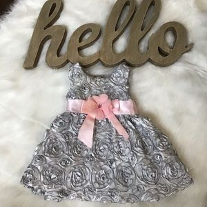 Rare Edition Floral Silver Dress